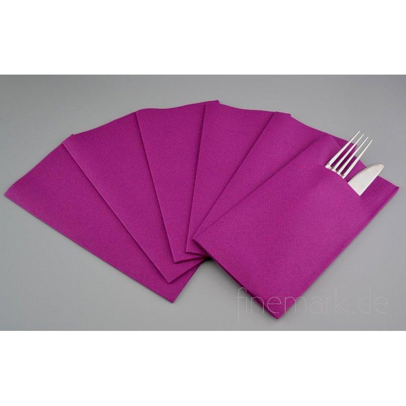 besteckservietten servietten lila stoff hnlich. Black Bedroom Furniture Sets. Home Design Ideas