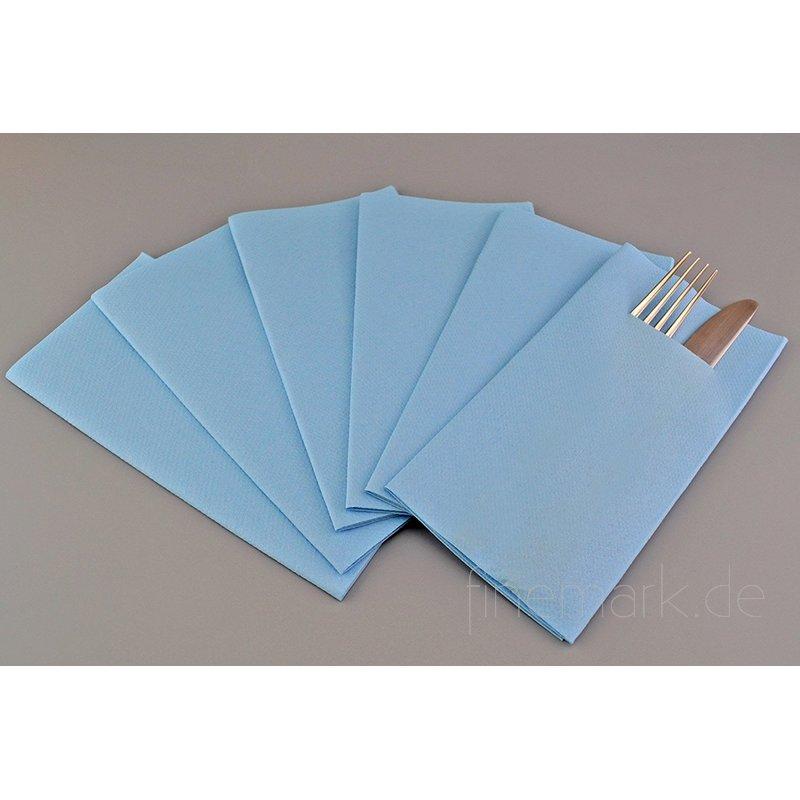 besteckservietten servietten hellblau stoff hnlich. Black Bedroom Furniture Sets. Home Design Ideas