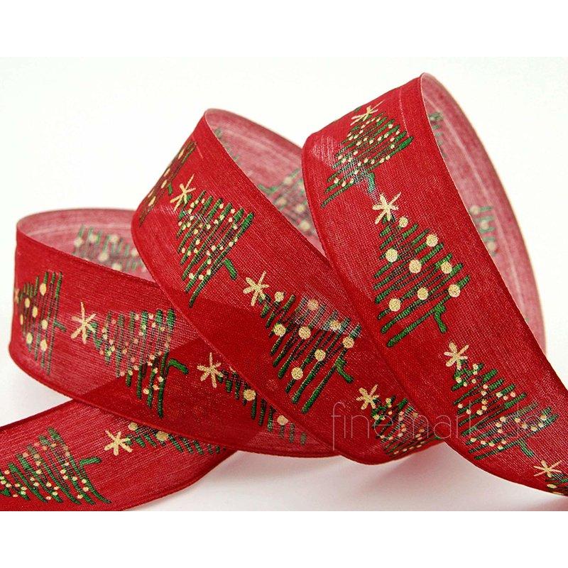 Schleifenband 20m x 40mm Natur Braun Lebkuchen Weihnachtsband Dekoband 1m//0,25€